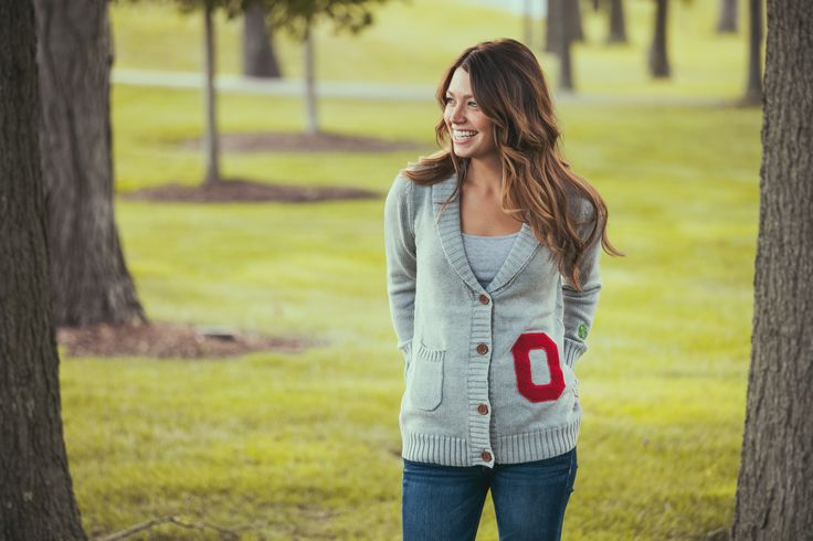 Ohio State University letterman cardigan available now at shopthequad.com.