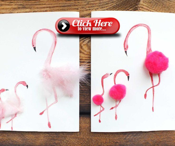 Красивые открытки подруге на день рождения своими руками с фламинго
