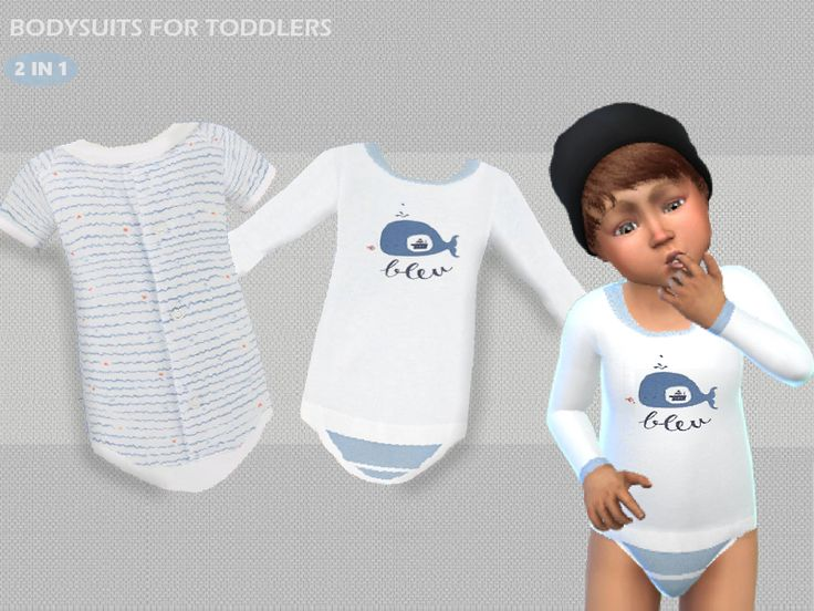Bodysuit for male toddlers in 2 different style. Found in TSR Category 'Sims 4 Male Toddler'