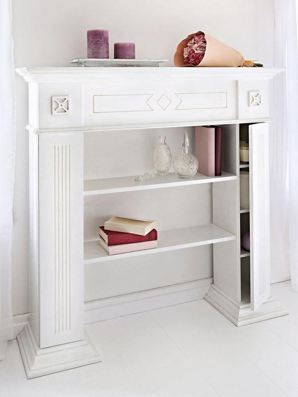 Meuble rangement biblioth que sur cheminee cr a pinterest meuble rangement chemin e et - Ceruser une poutre de cheminee ...