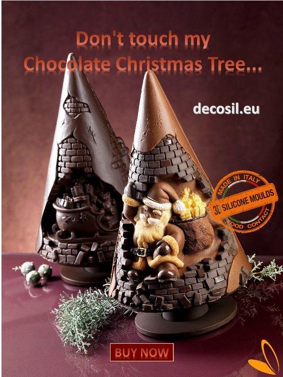 Chocolate Tree made by decosil 3D Christmas Moulds www.decosil.eu; pino di cioccolato realizzato con stampo 3D decosil per cioccolato www.decosil.it #chocolate #cioccolato #natale #christmas