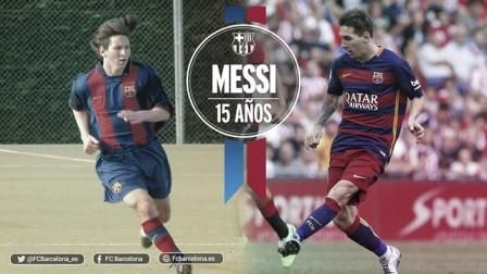 El Barça celebra los 15 años de Messi en el club recordando sus 15 mejores momentos