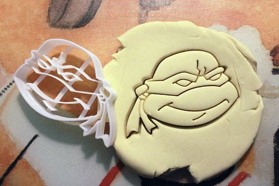 TMNT+Cookie+Cutter+great+for+cutting+Bread+Cheese+by+CookiePrints,+$9.99