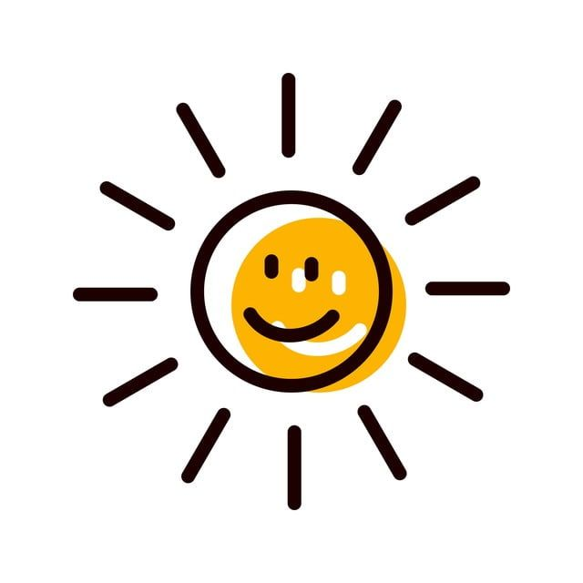 Sun Smiling Icon Design Sun Clipart Sun Icons Smiling Png And Vector With Transparent Background For Free Download Ilustrasi Png Gambar