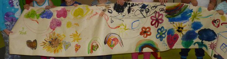 Obraz maľovaný deťmi