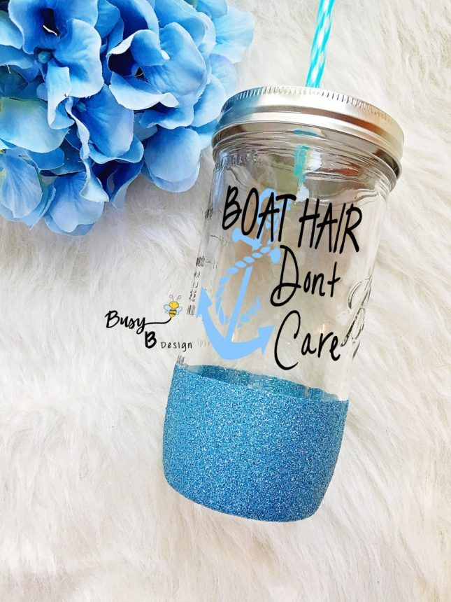 Your bridesmaids will love sipping their favorite summer cocktails from their personalized mason jar tumblers.