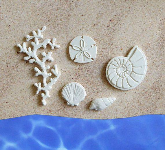 Korallen Nautilus Sand Dollar Seashell Clam Silikon Form Fondant Candy Kuchen…