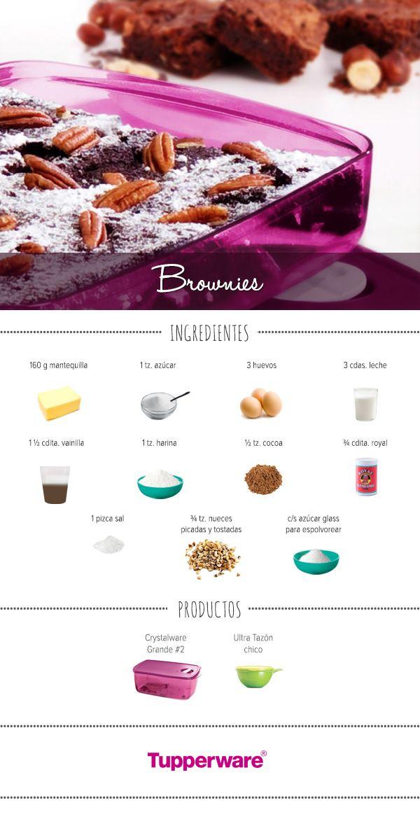 Aprende a preparar en casa unos deliciosos #brownies. #Recetas #Tupperware