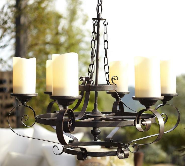 outdoor patio chandelier backyard oasis