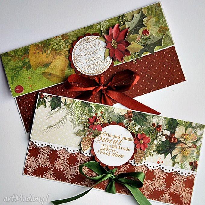 Komplet kartki świąteczne scrapbooking magdalenamatraszek kartka