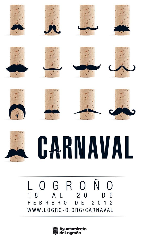 El #corcho fue protagonista del #Carnaval de Logroño en sus carteles de 2012. ¿Os gusta cómo le sienta el bigote?