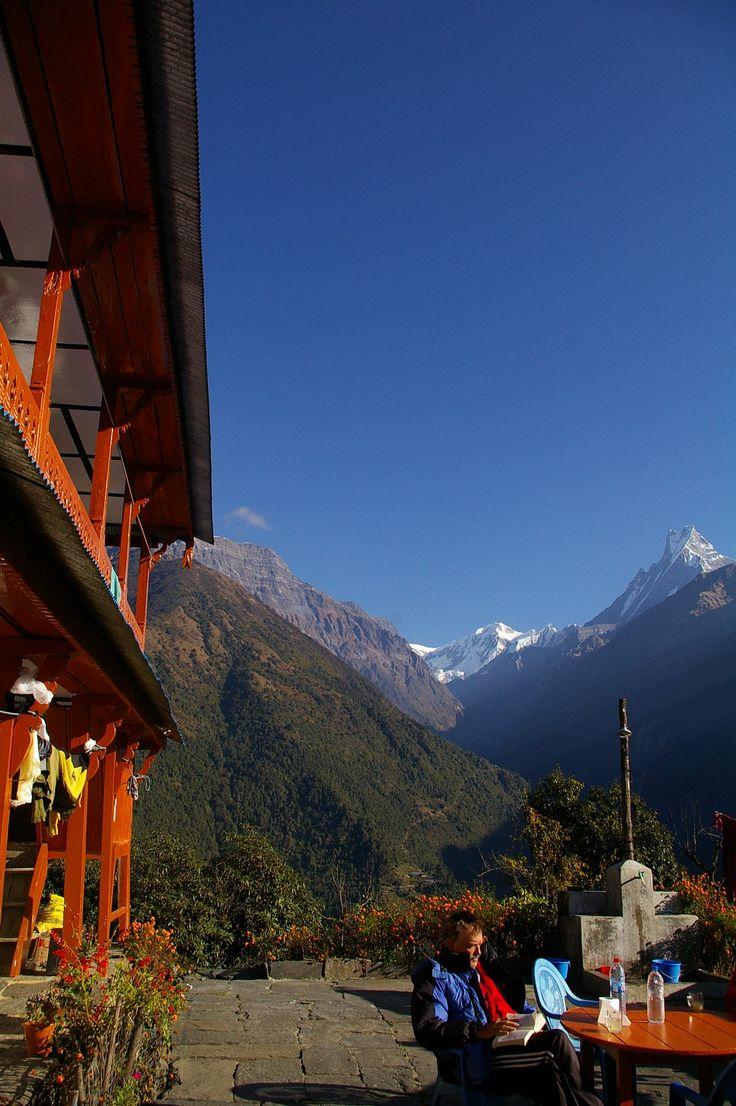 A teahouse in Chomrong.   #nepal #himalayas #hikingnepal