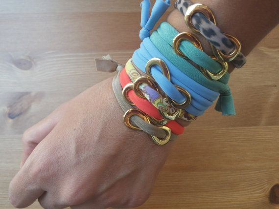 handmade bracelets in different colors from Ligres by toocharmy