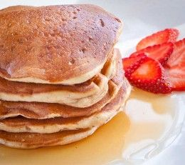 Egg free pancakes... ~ great option for pancakes when you realize you have no eggs. Kids loved them. I used wheat flour. Needed more milk.