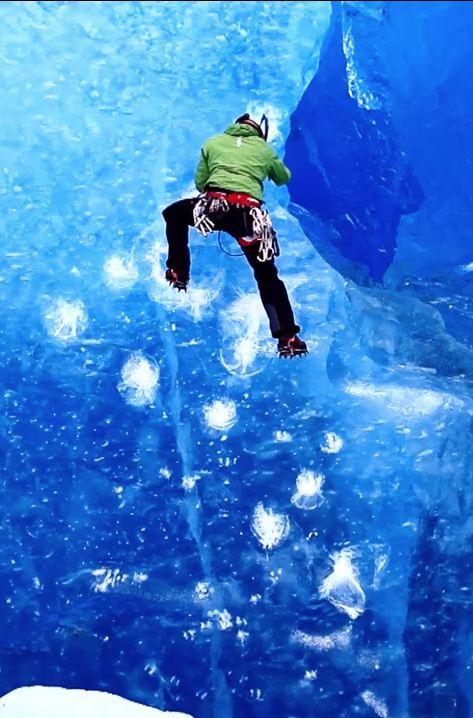 Ice climbing in Alaska