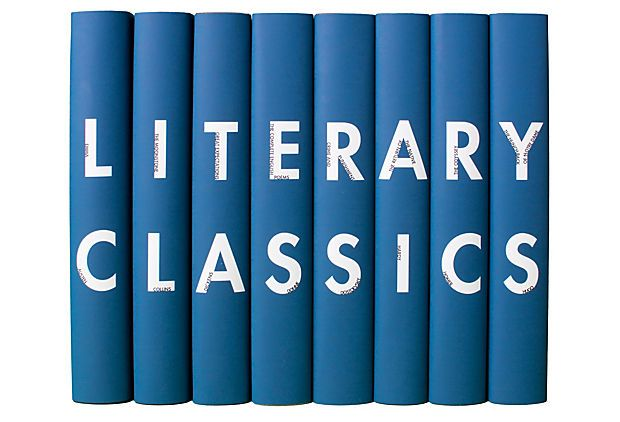 "S/8 ""Literary Classics,""  Blue on OneKingsLane.com 229"