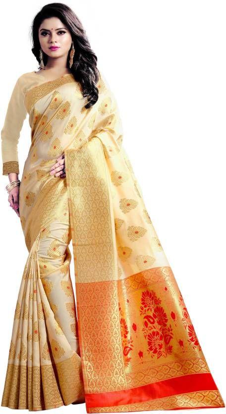 3f63c3464d jay fashion Self Design Banarasi Silk Saree | Beautiful Sarees ...