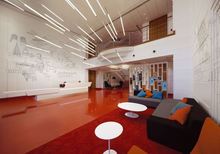 Virgin Atlantic's Branded HQ Lobby