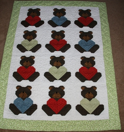 Rag Quilt Pattern Bear : 17 Best images about Teddy bear quilt ideas on Pinterest Pastel, New babies and Baby boy