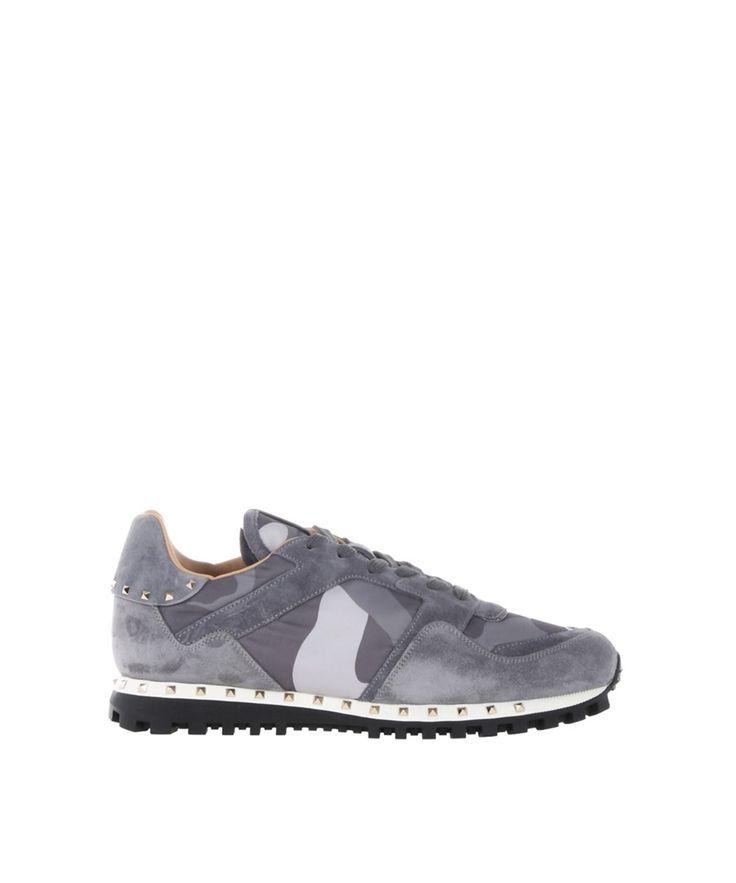 VALENTINO Valentino Garavani Men'S Grey Suede Sneakers'. #valentino #shoes #sneakers