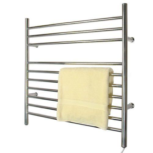 """33"""" Contemporary Plug-In Towel Warmer - Polished Finish"""