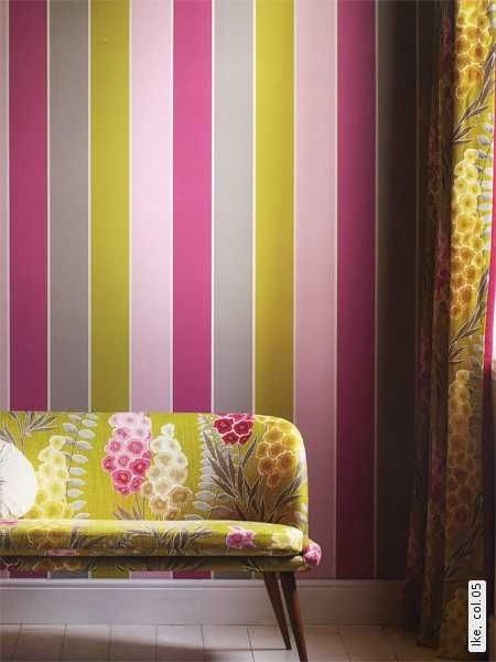 Best 25 purple striped walls ideas on pinterest - Pink and white striped wallpaper bedroom ...