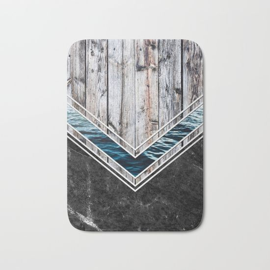 #wood #wooden #marble #stone #sea #ocean #stripe #stripes #striped #nature #texture #bath #mat #homedecor