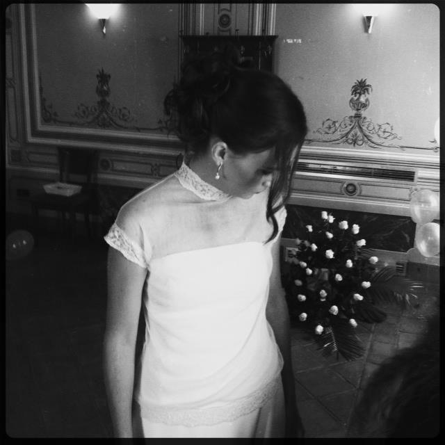 Crep de seda y tul para la novia más guapa de la familia.