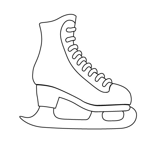ice skate outline