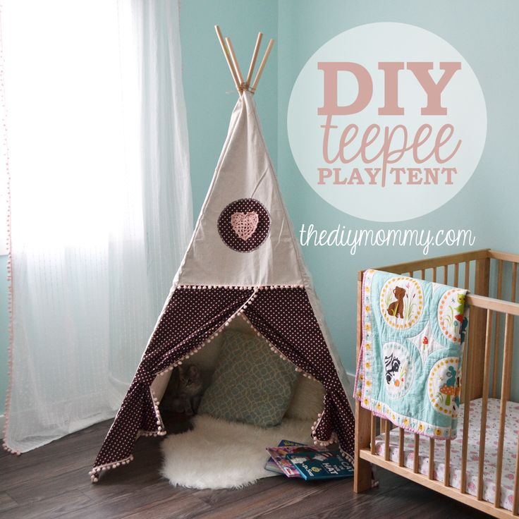 DIY Teepee Play Tent Tutorial by The DIY Mommy totally inspired by Georgies tent!