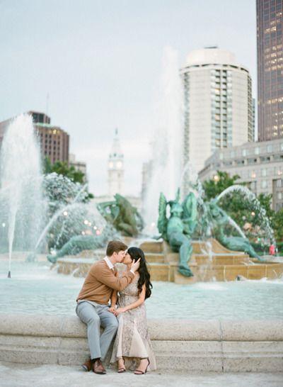Philly e-sesh: http://www.stylemepretty.com/pennsylvania-weddings/philadelphia/2015/03/20/philadelphia-museum-of-art-engagement-session/   Photography: KT Merry - http://www.ktmerry.com/