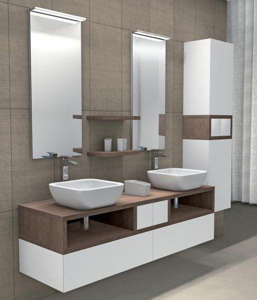Модульная мебель для ванной  Модульная мебель – комплекты мебели, состоящие из различных блоков-модулей, которые пользователь может комбинировать и совмещать, исходя из своих потребностей. Не просто удобная и многофункциональная, но и способна упорядочивать пространство санузла, приводить его к единому облику и рационально использовать каждый сантиметр. #санузел #сантехника http://santehnika-tut.ru/mebel-dlya-vannoj/modulnaya-mebel/
