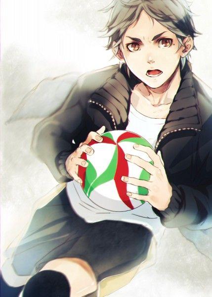 Tags: Mole, Saito Yukihiro, Haikyuu!!, Sugawara Koushi, Volleyball Uniform, Volleyball Ball