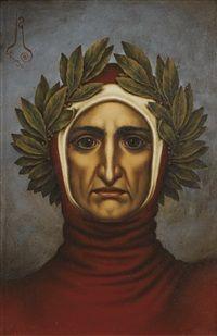 Portrait of Dante Alighieri by Nicolai Konstantinovich Kalmakov