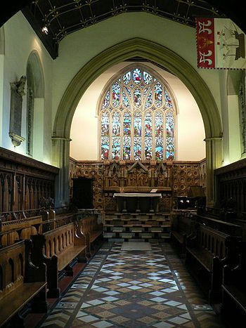 Inside Jesus College Chapel, Oxford