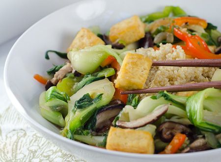 Thai Ginger Tofu Stirfry Recipe. Thanks again to Haley for this find. Not a big fan of the Asian cuisine, but I love tofu and ginger, so let's do this ... minus the fish and oyster sauce. :)