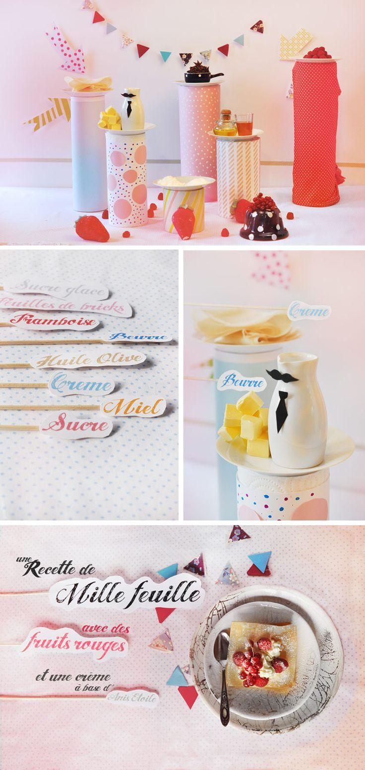 Idée de buffet: Desserts Table, Raspberries Millefeuil, Birthday Party Idea, Fruit Rouge, Adorable Griott, Teas Party, Food Labels, Guelpa Website, Emily Guelpa