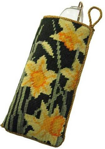 Daffodils Dark Glasses/Spectacle Case tapestry kit