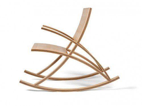 АНТАРЕС - Необычный дизайн кресла-качалки из дерева
