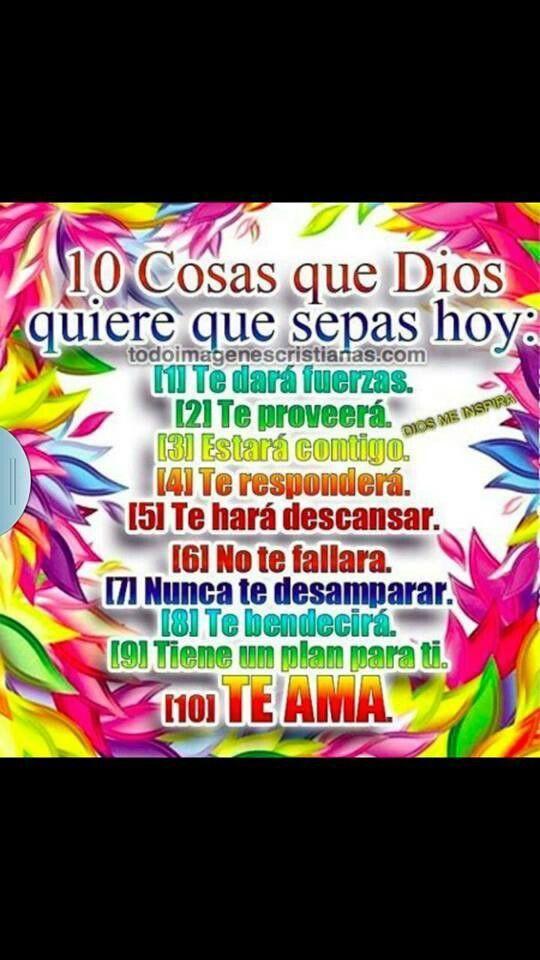 10 cosas que Dios quiere que sepas