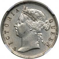 Straits Settlements. 20 Cents, 1901. NGC AU58 - Price Estimate: $150 - $200