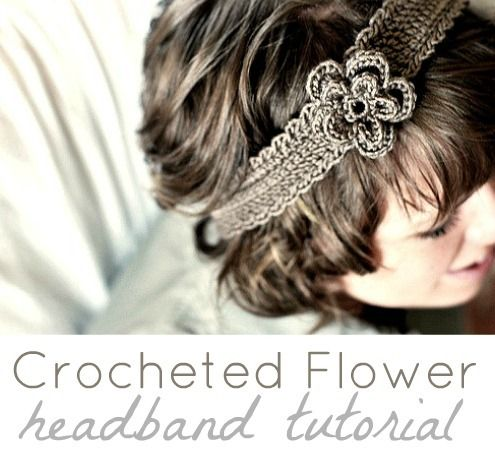 Crochet Headband Tutorial by Heather B #diy #hair