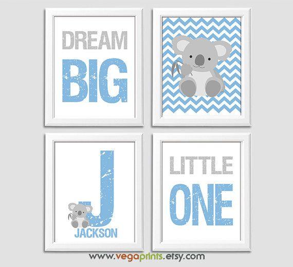 Französisches blau und grau Baby junge Kindergarten von VegaPrints