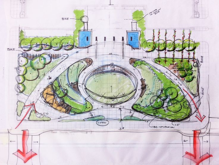 Fine Beautiful Landscape Architecture Plan Charrette Final Sketchjpg Planslandscape T With Decor