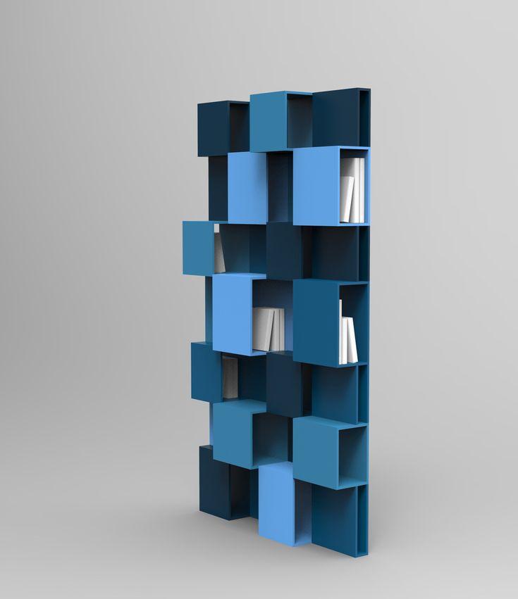Bibliothèque laquée PIXL by ROCHE BOBOIS design Fabrice Berrux