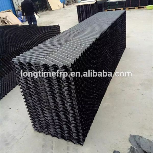 Oblique Pvc Cooling Tower Fills Film Packing Media 300mm Counter