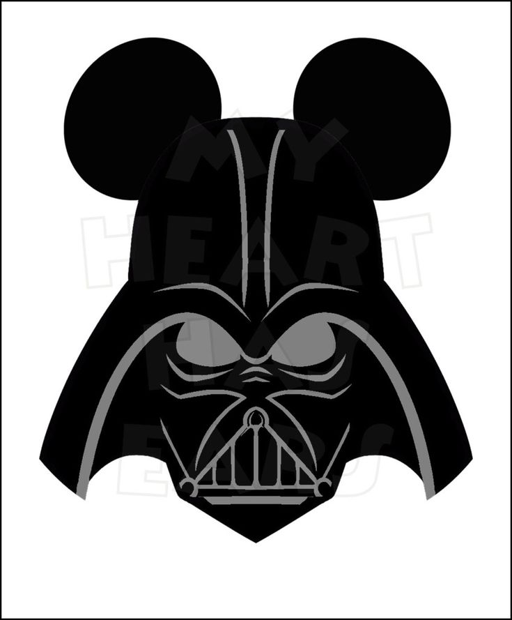 Darth Vader with Mickey mouse ears INSTANT DOWNLOAD ...