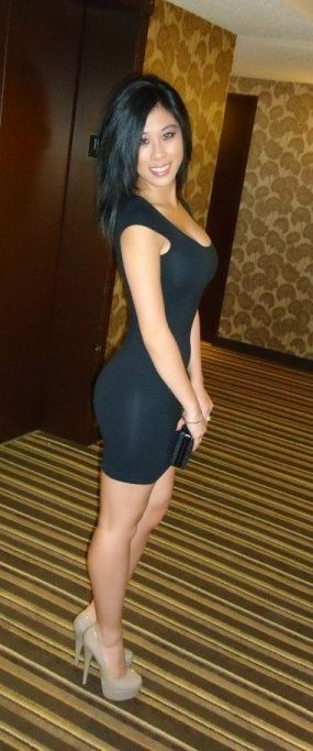 Asian girl tight dress