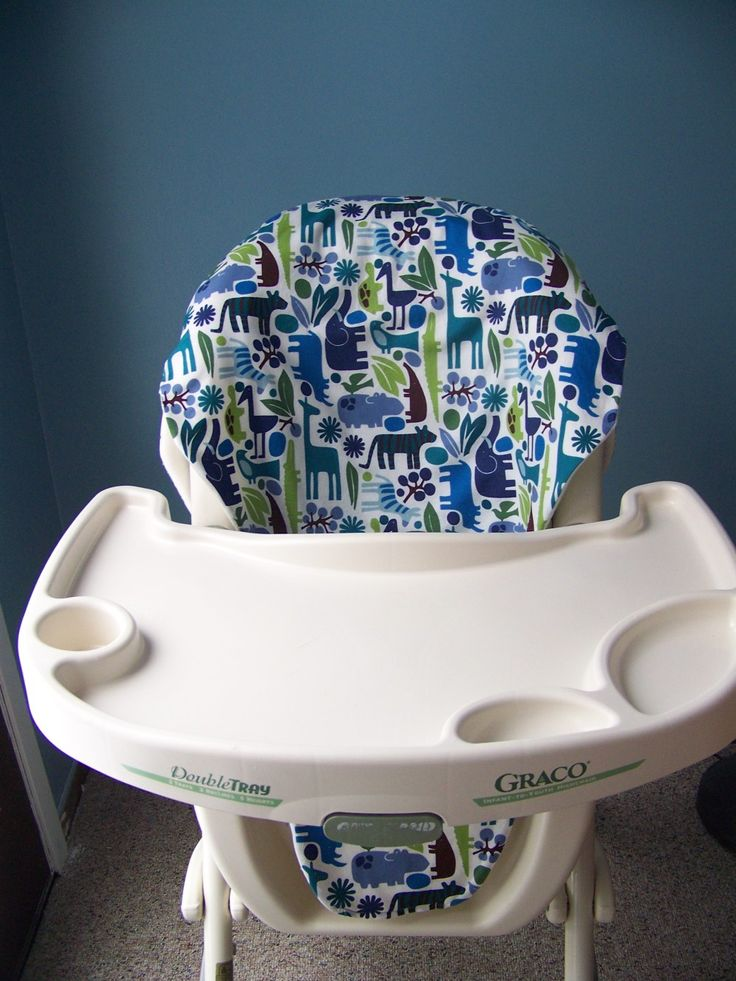 Sew your own high chair cover.