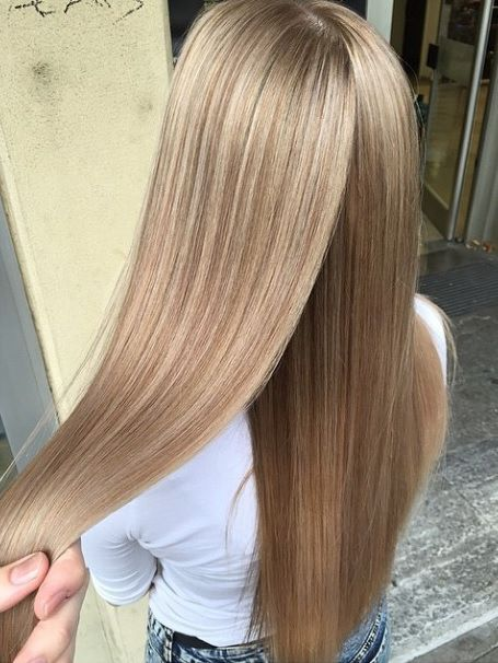 A perfect hair color to try for spring. Light honey blonde is fresh and dimensional.